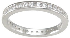 925 sterling silver eternity ring engagement 0 75 ct