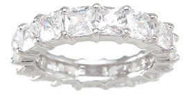 925 sterling silver eternity ring stackable ring 1 25 ct
