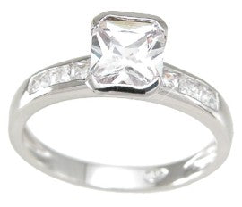 925 sterling silver princess cut ring