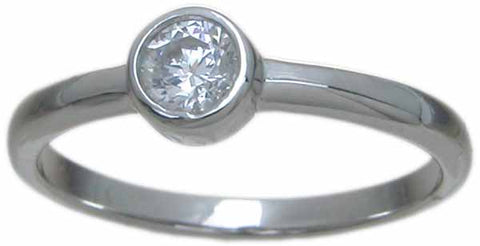 sterling silver ring tiffany style 5 5mm