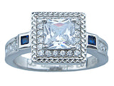 1 1 4ct princess sterling couture 925 silver wedding ring