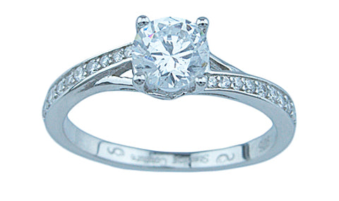 3 4ct brilliant 925 silver sterling couture engagement ring