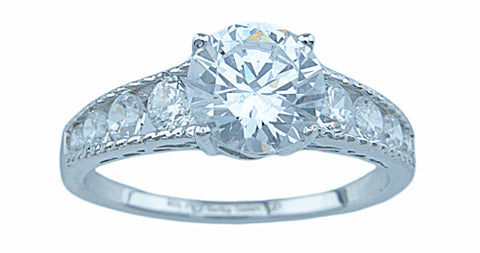 1 25ct brilliant 925 silver sterling couture engagement ring