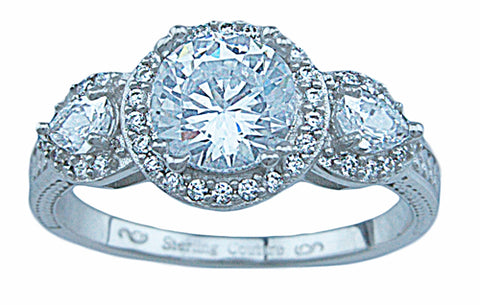 1 25ct double prong 925 silver sterling couture engagement ring jolene