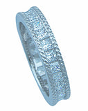925 silver sterling couture eternity bridal band