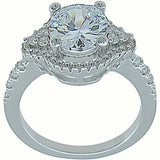 925 sterling silver antique style wedding ring 2 75ct