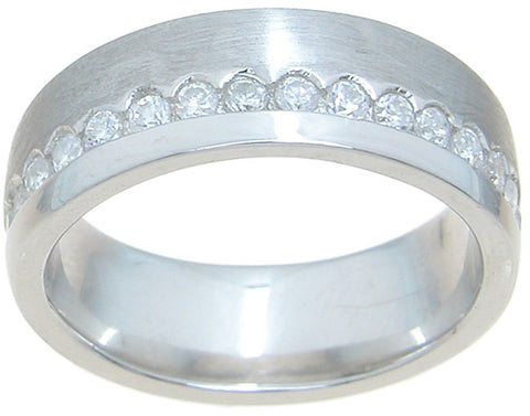 925 sterling silver wedding band bezel setting 3 4 ct