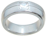 925 sterling silver wedding band bezel setting 7mm