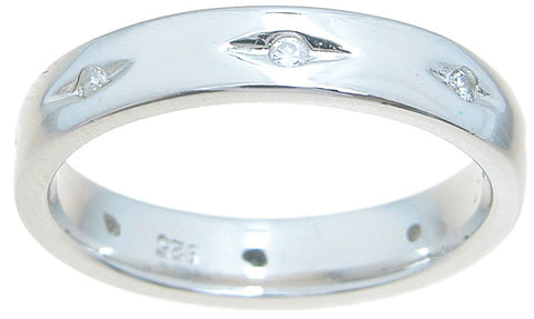 925 sterling silver wedding band wedding band 4mm