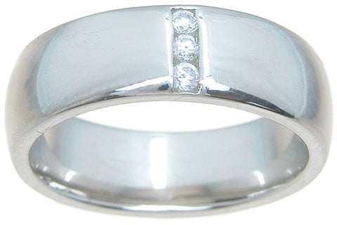 925 sterling silver wedding band channel setting 6mm
