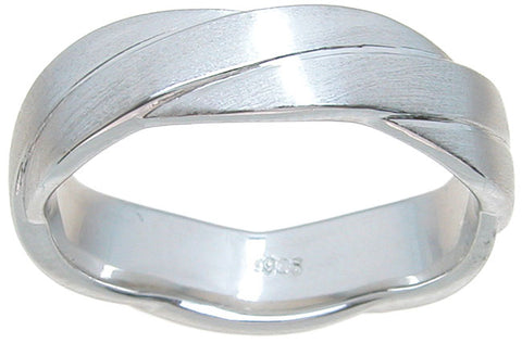925 sterling silver wedding band venetian finish 6gr