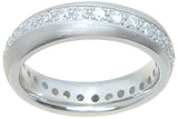 925 sterling silver wedding band pave setting 3 4 ct