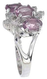 925 sterling silver platinum finish genuine amethyst ring 3 ct