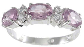 925 sterling silver platinum finish genuine amethyst ring 1 1 2 ct