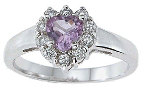 925 sterling silver platinum finish genuine amethyst ring 1 ct