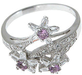 925 sterling silver platinum finish genuine amethyst ring 15mm 3 4 ct