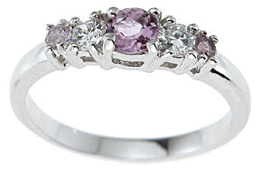 925 sterling silver platinum finish genuine amethyst ring 4mm 3 4 ct