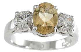 925 sterling silver platinum finish genuine citrine ring 8mm 1 1 2 ct