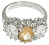 925 sterling silver platinum finish genuine citrine ring 3 1 2 ct