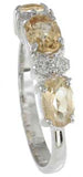 925 sterling silver platinum finish genuine citrine ring 4mm 1 1 2 ct