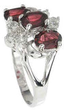 925 sterling silver platinum finish genuine garnet ring 3 ct