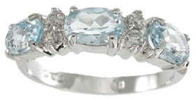 925 sterling silver platinum finish genuine topaz ring 1 1 2 ct