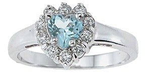925 sterling silver platinum finish genuine topaz ring 1 ct
