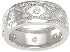 925 sterling silver mens wedding band 1 4 ct
