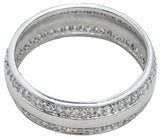 925 sterling silver mens wedding band 0 75 ct