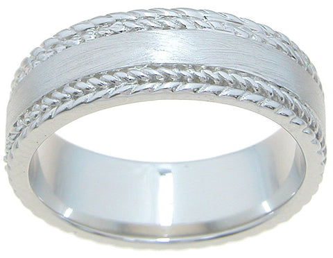 925 sterling silver mens wedding band venetian finish