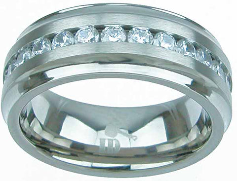 titanium wedding band 8mm brilliant