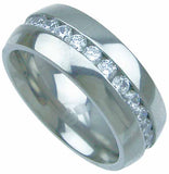 titanium wedding band 8mm 3ct