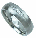 titanium wedding band 6mm 0 015ct