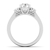 925 sterling silver three stone wedding set prong 1 1 2 ct