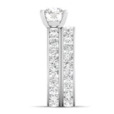 925 sterling silver double eternity wedding set
