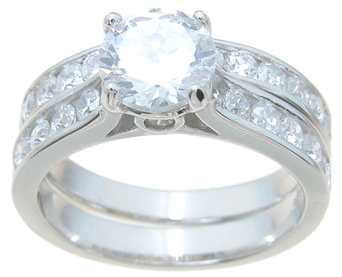 925 sterling silver brilliant engagement ring set