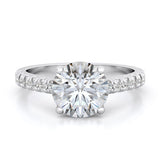 925 sterling silver wedding set prong pave 2 75ct