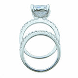 925 sterling silver wedding set prong pave 7ct