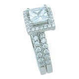 925 sterling silver wedding set prong pave 3 3ct