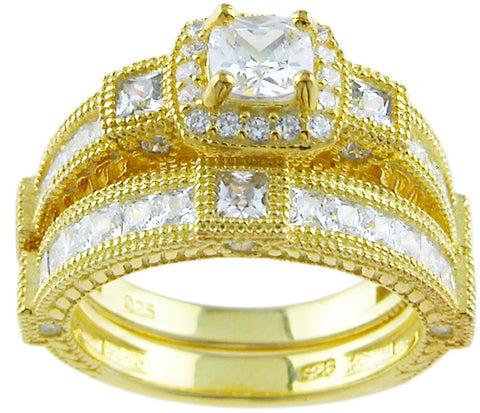 14kt gold plated 925 sterling silver ring 1 1 2 ct
