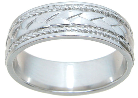 925 sterling silver wedding band unisex wedding band rhodium finish