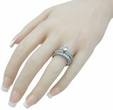 stainless steel wedding set 6mm 1 25ct