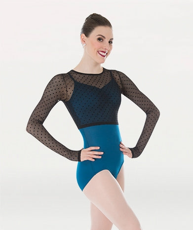 Dotted Long Sleeve Shrug by Body Wrappers