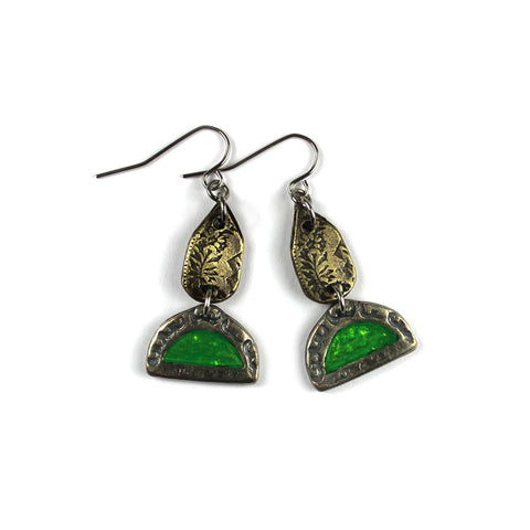 Fluoro Green Earrings