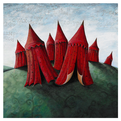 Seven Red Tents