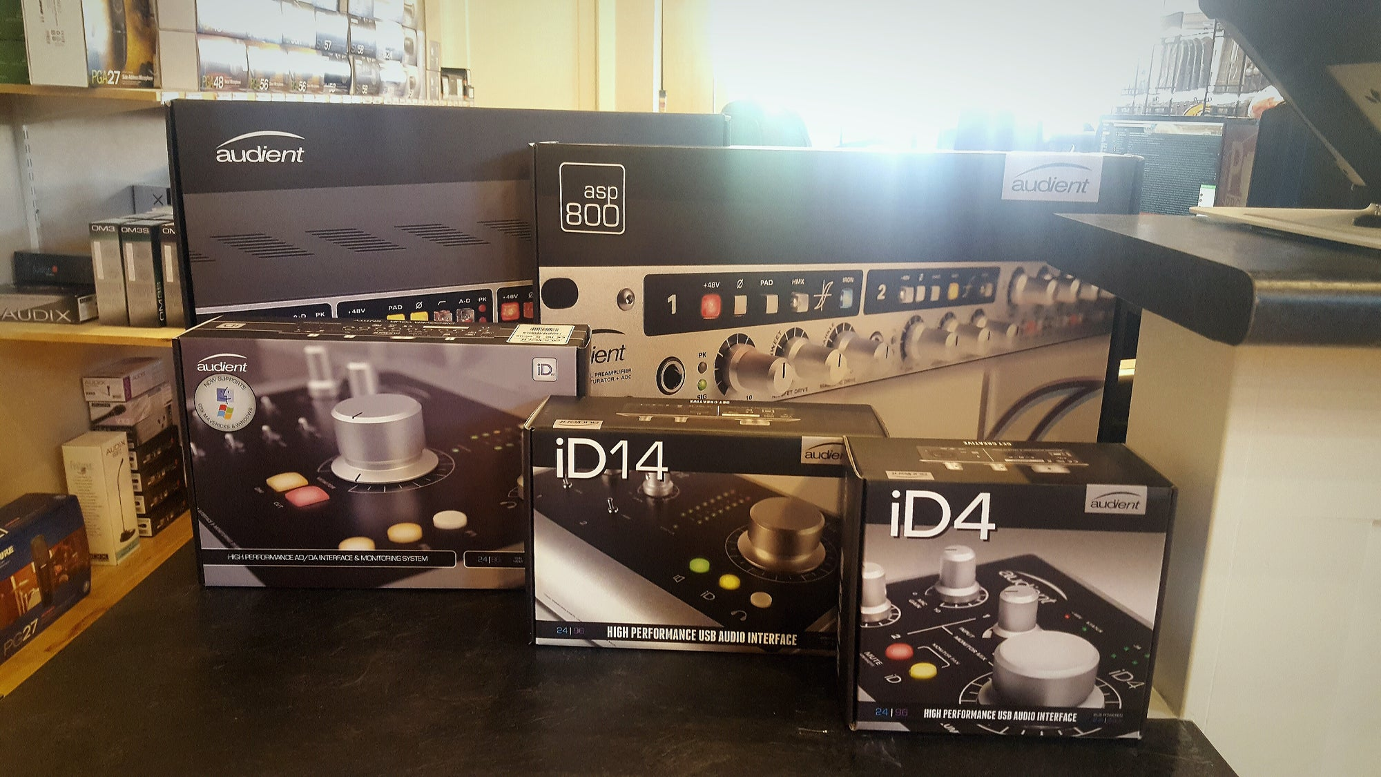 Audient Interfaces and Preamps Now Available