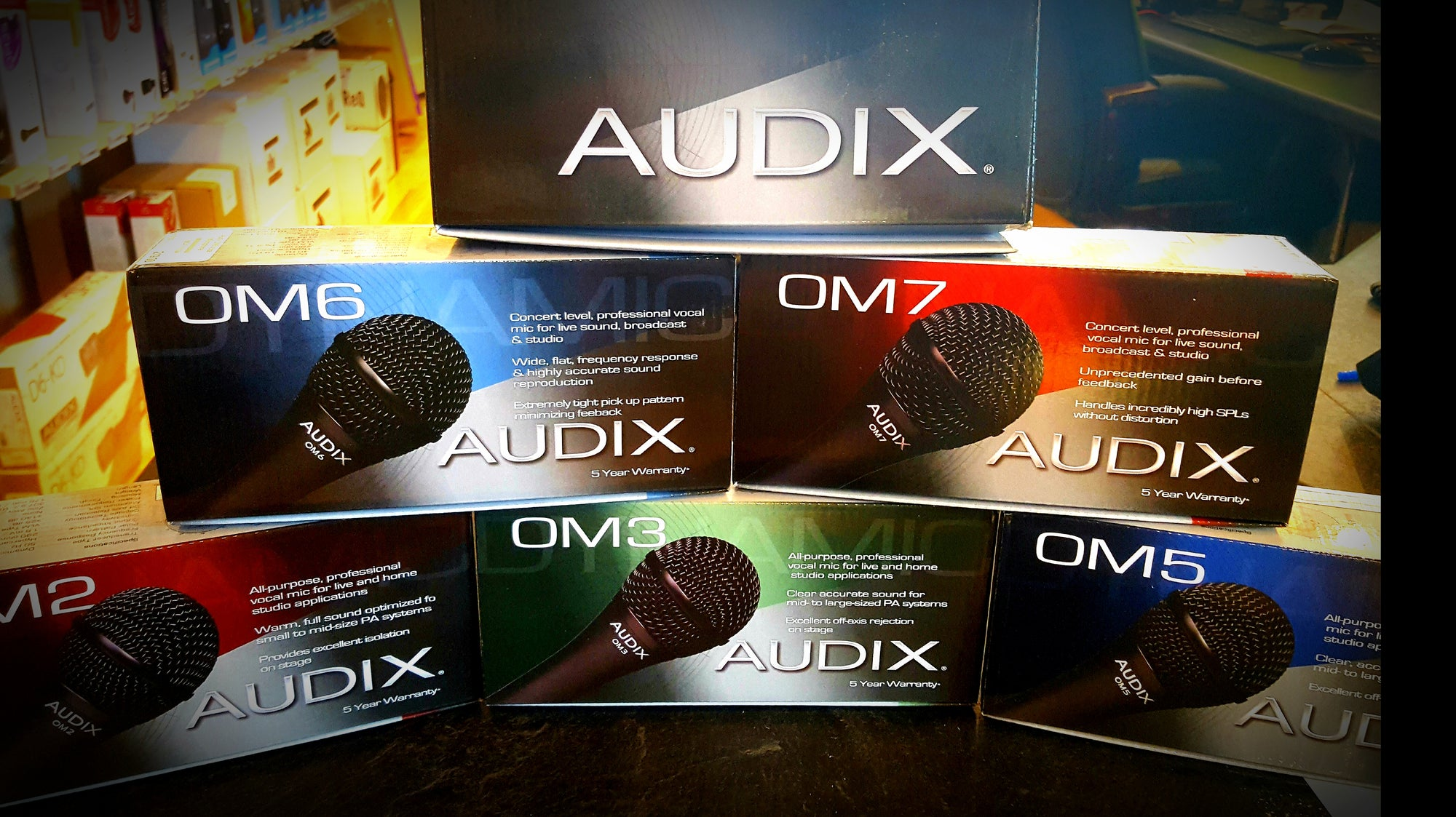 Audix OM Series Dynamic Microphones