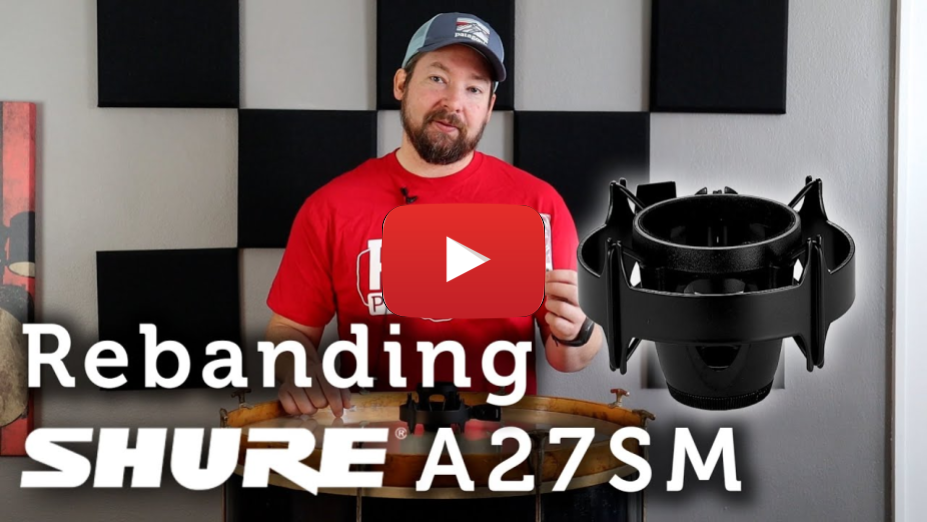 How to Reband Shure A27SM