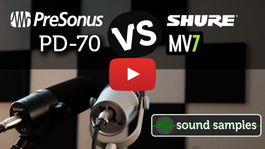 Broadcast Mic Shootout - PreSonus PD-70 vs Shure MV7 - Sound Samples