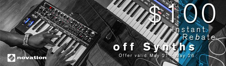 Memorial Day Novation Synth Sale - BIG savings!